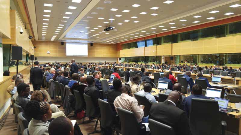 The 15th Kimberley Process (KP) Plenary Meeting, held at the Egmont Palace in Brussels from November 12 to 16, 2018, included representatives of the industry, civil society, and more than five dozen countries.