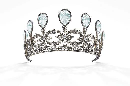 An aquamarine and diamond tiara once owned by Princess Alexandra of Hanover and Cumberland is set to be auctioned at Christie's Magnificent Jewels sale in Geneva.