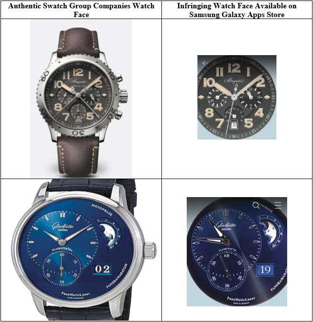 Swatch Group has filed a lawsuit against Samsung Electronics, citing trademark infringement.