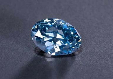 The 'Okavango Blue' was cut from a rough stone weighting 41.11 carats.