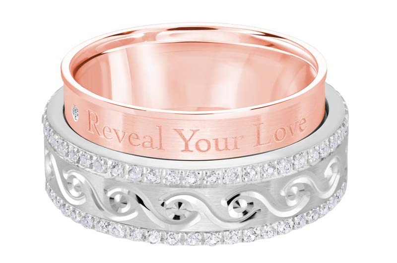 Based in Laval, Qué., Malo Creations crafted this two-toned rose and white gold wedding band, ultimately winning in the category for personalized jewellery in this year's JCK Jewelers' Choice Awards.