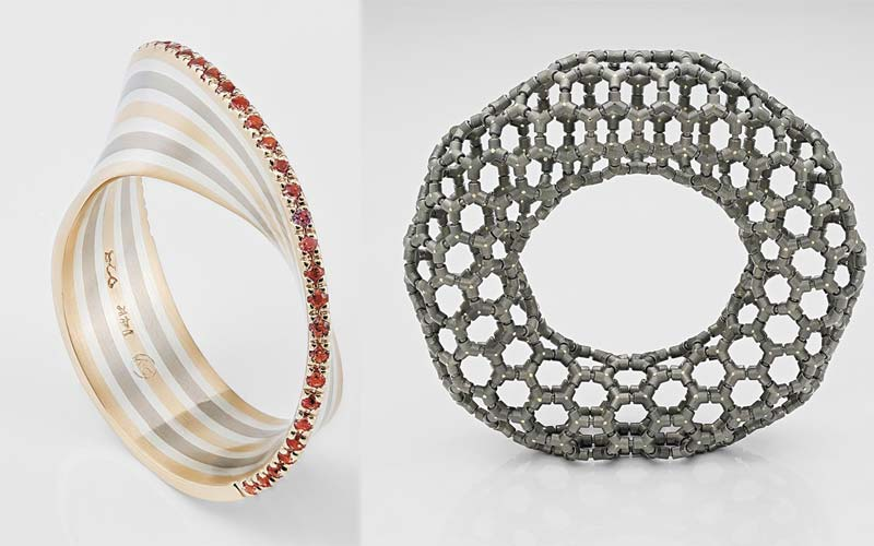 Pierre-Yves Paquette's 'Moebius No.1' and Ezra Satok-Wolman's 'Torus Bracelet for an Astronaut' have been named finalists in the 2019 Saul Bell Design Award competition.