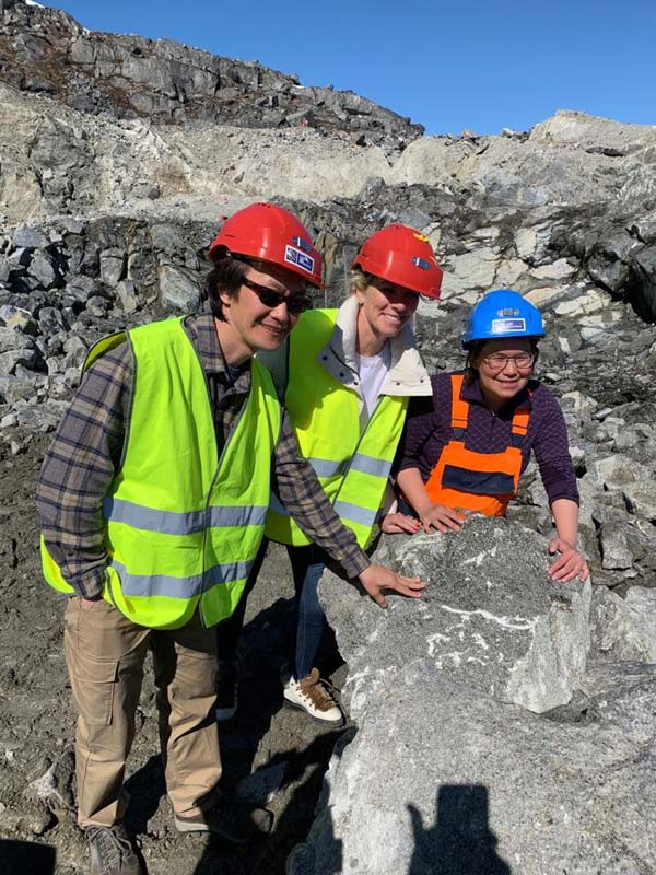 U.S. Greenlandic Affairs Officer Sung Choi joins Hayley Henning, Greenland Ruby's vice-president of sales and marketing, and geologist Aaju Simonsen on a tour of the company's mine at Aappaluttoq in southwest Greenland.