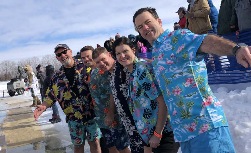 Jewelers Mutual employees in Neenah, Wisc., participated in this year's 'Polar Plunge' in support of Special Olympics Wisconsin.