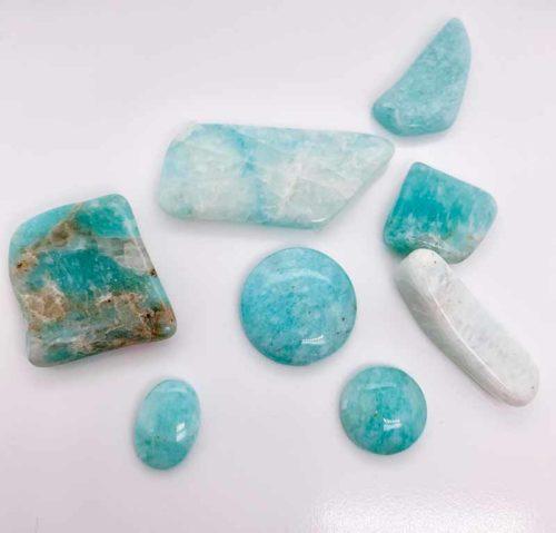 Amazonite specimens from Peribonka, Qué.