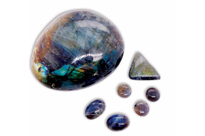 "Labradorite specimens from Labrador.<br /> <span style=""font-size: 10pt; font-family: arial, helvetica, sans-serif;""><i>Photos ©Lauriane Lognay/Rippana Inc.</i></span>"