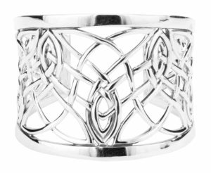 50-mm sterling silver bangle from Keith Jack Jewellery's 'Elven' collection.