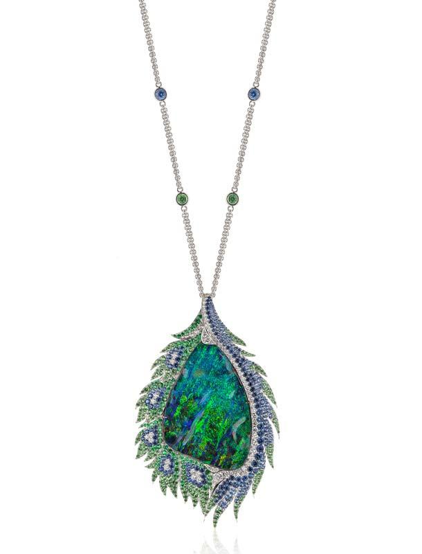 First Place Evening Wear—Tanja Schuetz, DuftyWeis Opals
