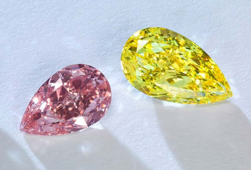 Pink diamonds saw a 0.4 per cent increase during the second quarter, while the price of blues and yellows declined.