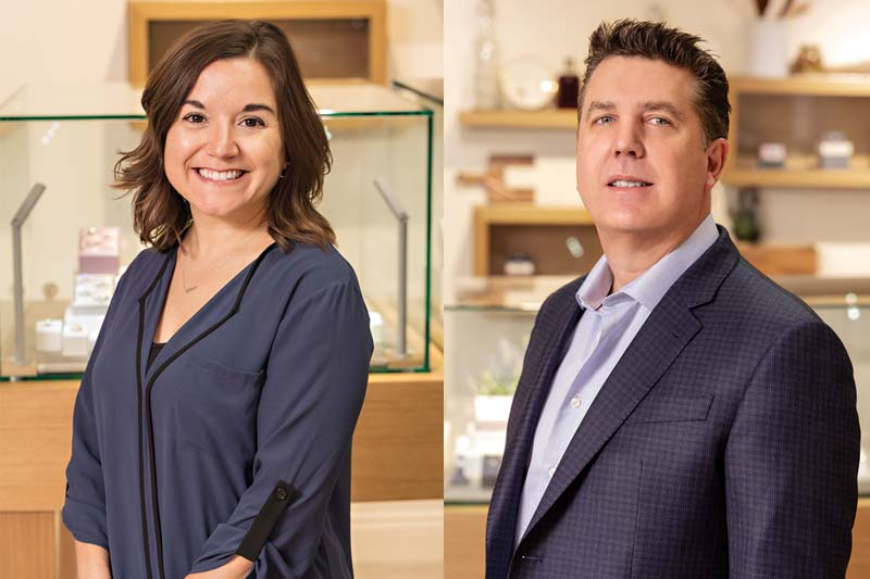 Alix Gonsoulin has been named Stuller's vice-president of bridal, fine jewellery, and findings, while Brian Henderson has been named vice-president of marketing.