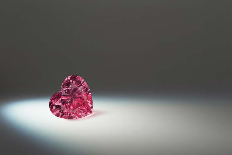 1.48-carat fancy vivid purplish pink 'Argyle Amari' diamond.