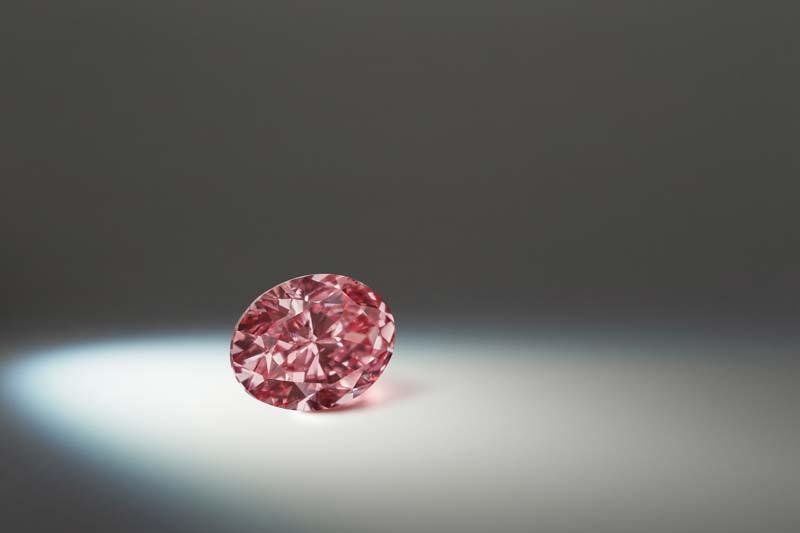 1.37-carat fancy vivid purplish pink 'Argyle Verity' diamond.