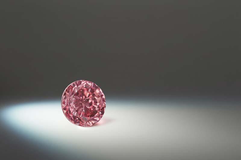2.01-carat round fancy intense pink 'Argyle Opus' diamond.