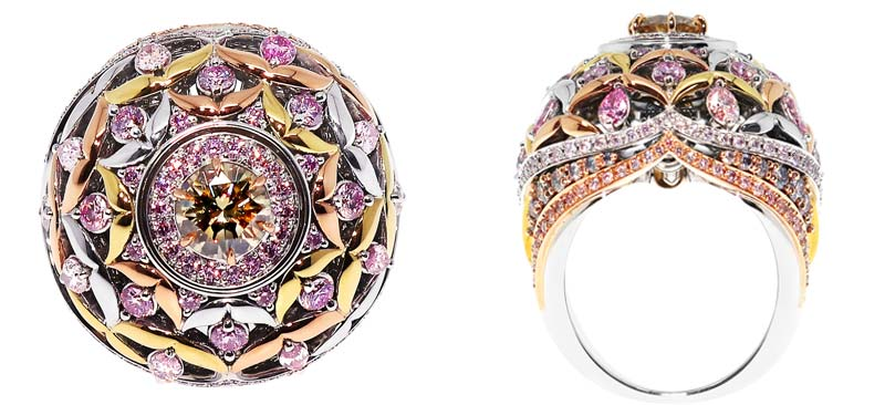 The 'Argyle Dreaming' ring, crafted by international designer and jeweller John Calleija.