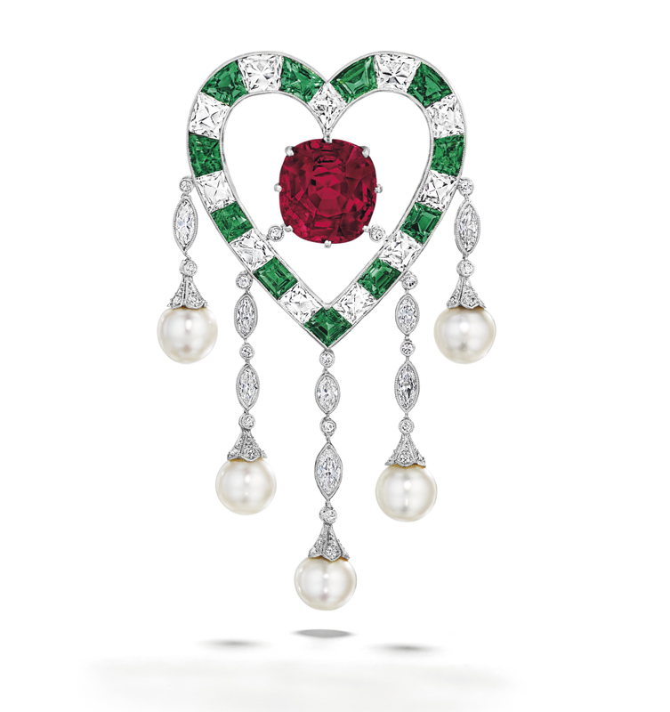 'The duPont Ruby' was the top lot at Christie's Magnificent Jewels in New York, selling for more than US$8.9 million.