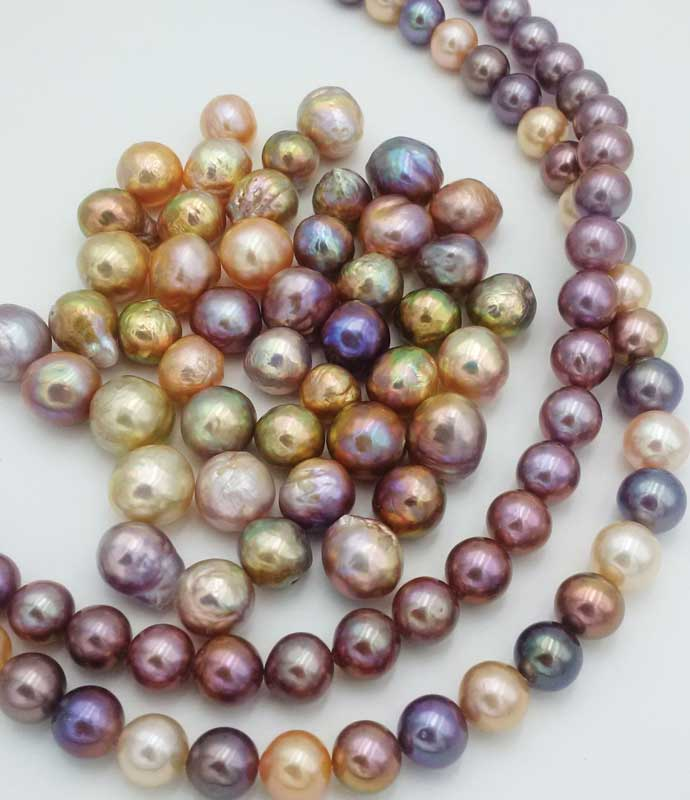 Kasumiga pearls offer a range of shapes and colours.