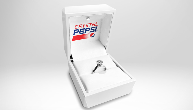 Pepsi's engagement ring features a 1.53-carat lab-grown diamond, which was made using Crystal Pepsi.