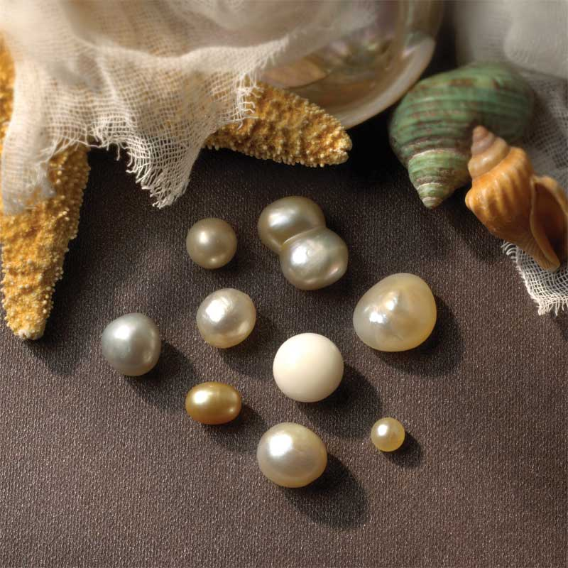 Natural pearls from wild oysters in the Philippines. From the collection of J. Grahl Design–Dr. T. Stern. Photo by Sylvia Bissonnette