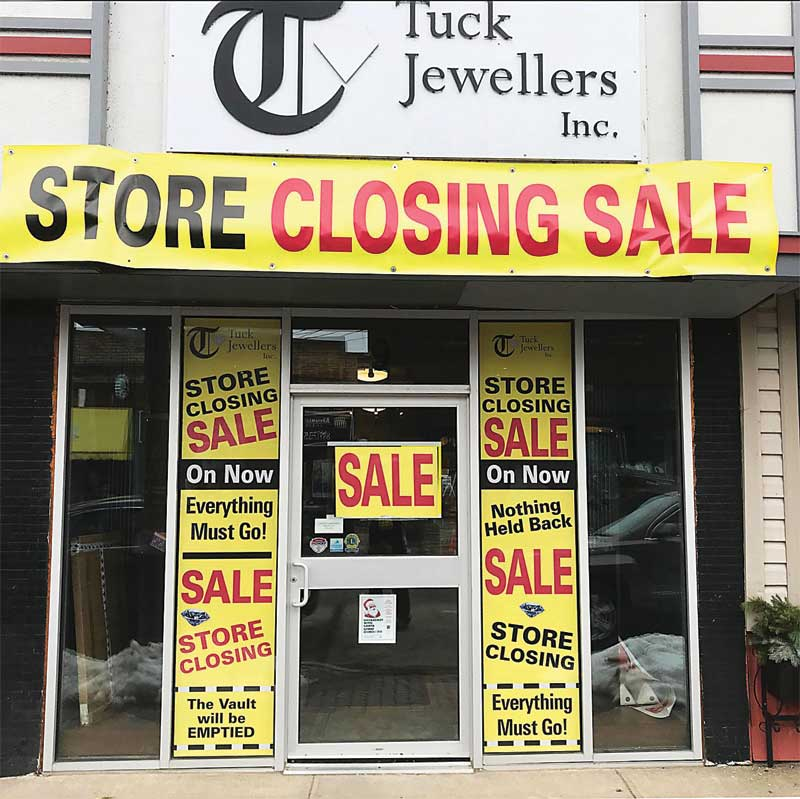Liquidation is generally marketed to the consumer as a 'retirement' or a 'going out of business' sale.