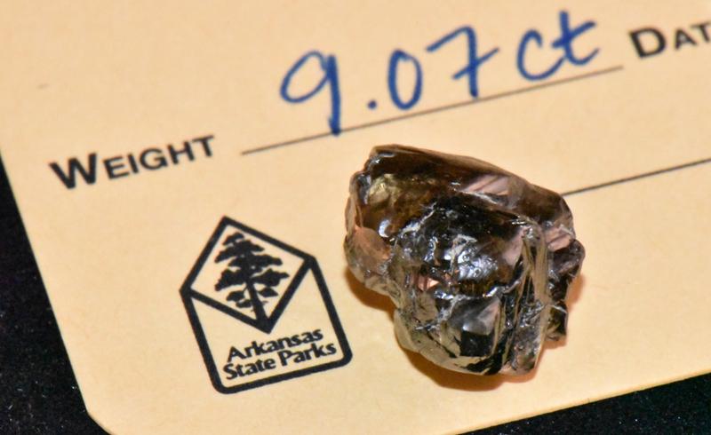 A 9.07-carat diamond has been recovered at Arkansas's Crater of Diamonds State Park.