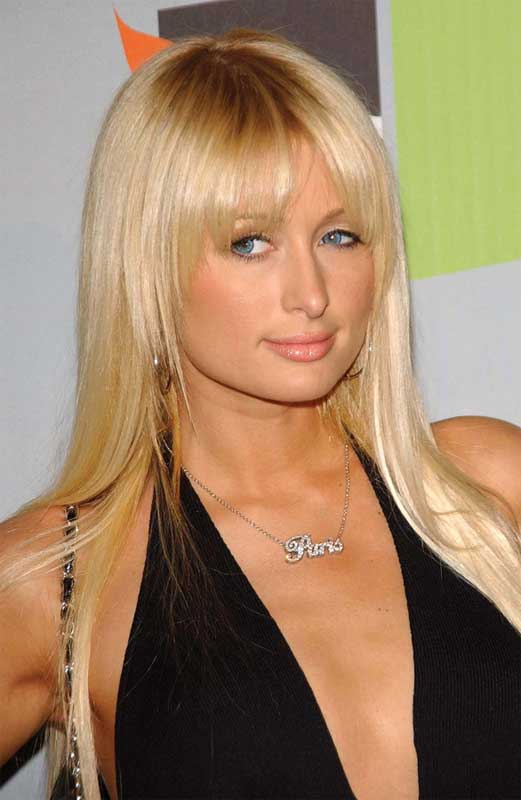 Paris Hilton rocks a nameplate necklace at a 2006 event. Photo ©BigStockPhoto.com