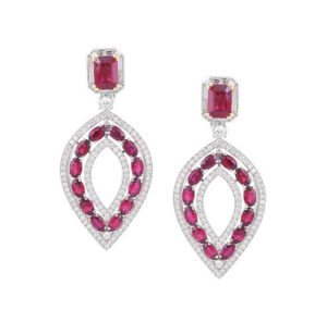 'The Ellipse' earrings by Picchiotti, featuring rubies and diamonds. Photo courtesy Picchiotti