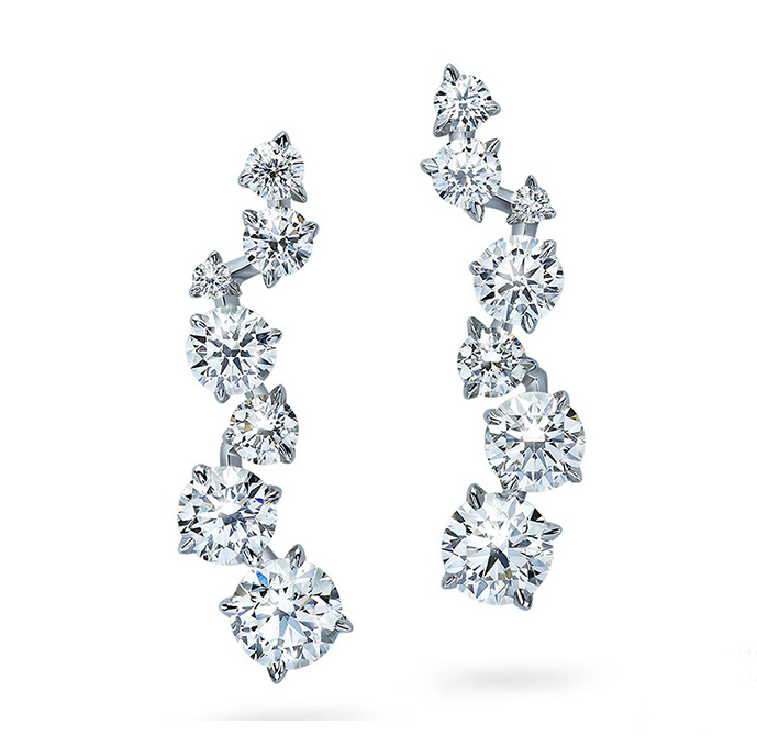 Swarovski-created synthetic diamond earrings. Photo courtesy Bob Thompson