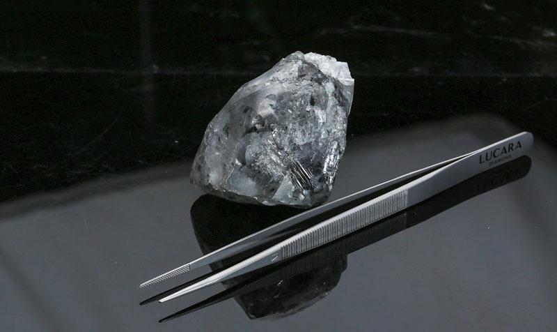 A 998-carat diamond has been recovered from Lucara's Karowe Diamond Mine. Photo courtesy Lucara Diamond Corp.