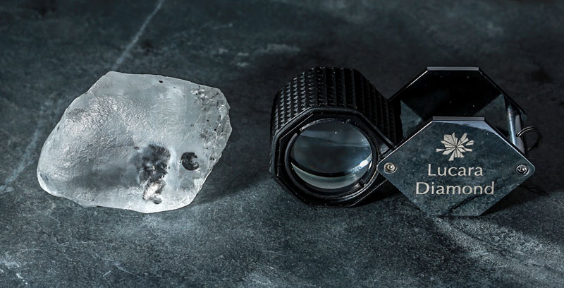 Lucara Diamond has recovered a 341-carat white gem-quality unbroken diamond from its Karowe Diamond Mine in Botswana. Photo courtesy Lucara Diamond