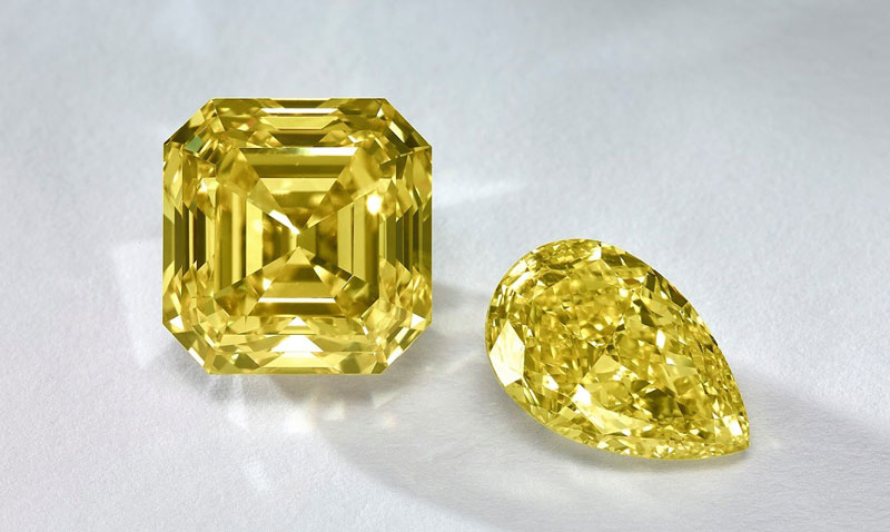 The Fancy Color Research Foundation reports a slight decrease—less than one per cent—for fancy colour diamonds in the past year. Photo courtesy FCRF