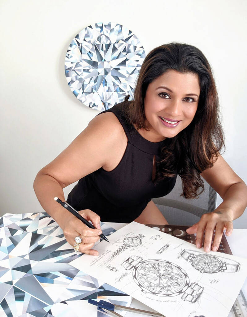 Toronto-based jewellery designer and artist Reena Ahluwalia has launched 'Coronet by Reena,' her first-ever diamond watch collection. Photos courtesy Reena Ahluwalia