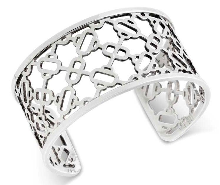 Silver bracelet by Hermès.