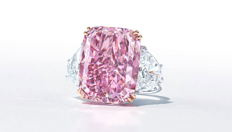 The 15.81-carat 'Sakura Diamond' is expected to sell for upwards of $47.7 million (US$38 million) when it goes under the hammer at Christie's in May. Photo courtesy Christie's Images Ltd.