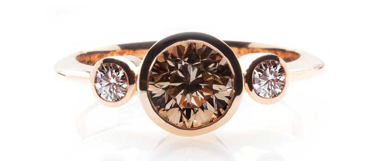 Chocolate natural diamonds have a very exciting and deep colour, one which will draw eyes to a ring without fail.