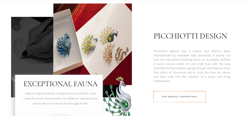 Picchiotti's latest offering has launched a newly designed, fully dynamic website. Photo courtesy Picchiotti