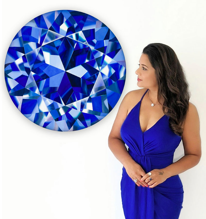 A painting donated by Toronto designer and artist Reena Ahluwalia is set to be raffled in support of non-profit organization Gem Legacy. Photo courtesy Reena Ahluwalia